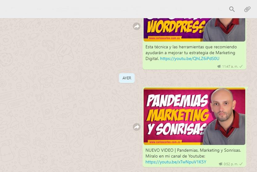 Grupo de WhatsApp de Carlos Cortés Academy