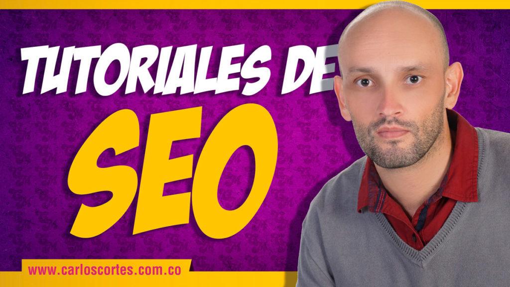 Tutoriales de SEO Carlos Cortés